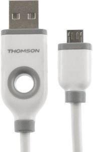 THOMSON THCABLEMIC2A - vysokorýchlostný kábel - Micro USB, 1m, biely