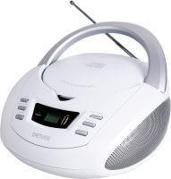 Denver TCU-211 WHITE Boombox s FM rádiom / CD / USB vstupom