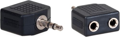 AQ KA404 - rozdvojka stereo z Jack 3,5 mm M na 2x Jack 3,5 mm F