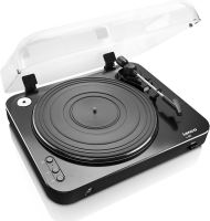 Lenco L 85 Black - MIDI gramofon s přímým kódování do MP3,z vinylu na USB