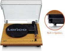 Lenco LS 10 - Wood, Gramofón s vstavanými reproduktormi