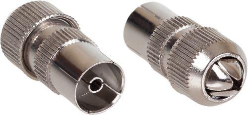 AQ KV307 - anténny konektor kovový rovný F