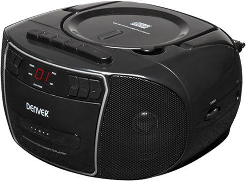 Denver TCP-40BLACK Boombox s rádiom / CD prehrávačom