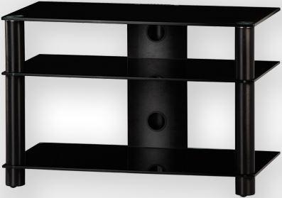 LF 6130 B-SMK - stolík čierna skla, dymové nohy