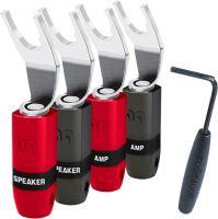 Audioquest SureGrip 300 BFA spade silver (set 4ks) Vidličky na repro kábel strieborné