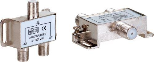 AQ KV312 - satelitný anténny rozbočovač - 1x vstup, 2x výstup, F konektory