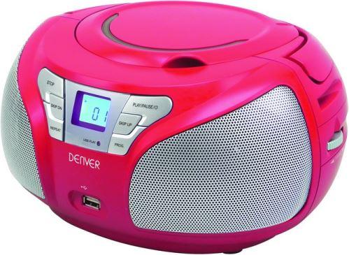 Denver TCU-206RED Boombox s rádiom / CD / USB vstupom