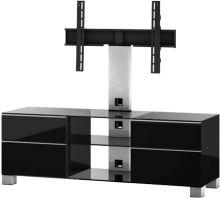 MD 8240 C-INX-BLK - stolík číre sklo - nerez nohy - čierne