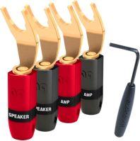 Audioquest SureGrip 300 BFA spade gold (set 4ks) Vidličky na repro kábel zlaté