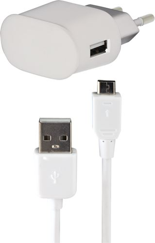 BIGBEN MINICSMICBB - micro USB nabíjací sada 1A do siete 2v1, čierna