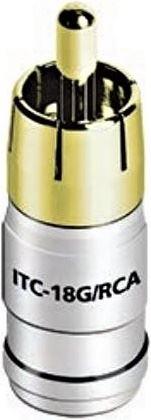 Audioquest ITC-18G RCA konektor RCA samec pre kábel 18 AWG - pozlátený ITC-18G / RCA50