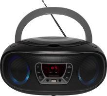 Denver TCL-212BT čierna / sivá Bluetooth Boombox s FM rádiom / CD / USB vstupom