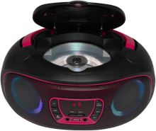 Denver TCL-212BT PINK Bluetooth Boombox s FM rádiom / CD / USB vstupom