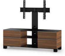 MD 8240 C-INX-GRP - stolík číre sklo - nerez nohy - grafit