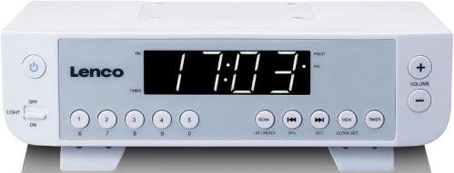 """Lenco KCR-11 white - Kuchynské rádio, 0,9 """"biely LED displej"""