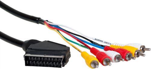 AQ KVR015 - kábel Scart - 6x RCA 1,5m
