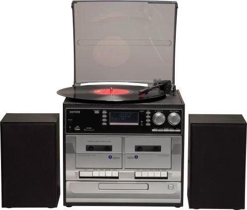 Denver MRD-166 - Hudobný mini systém, CD, gramofón, FM a DAB rádio
