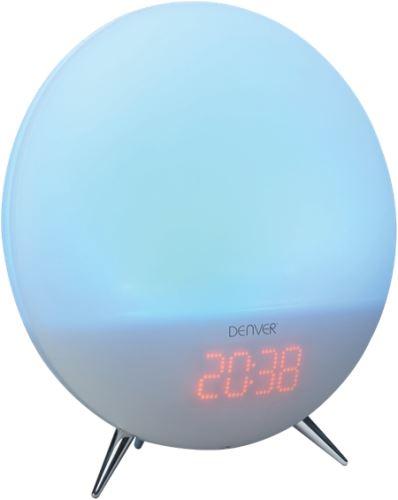 Denver CRL-310 - LED lampička a rádiobudík 2 v 1, svetlo / prír. zvuky