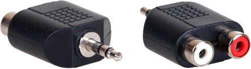 AQ KA406 - adaptér stereo 2x RCA F - 3,5 mm Jack M