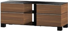 MD 9220 B-HBLK-BLK - stolík čierna sklá, čaná, čierna