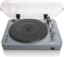 Lenco L 85 Grey - MIDI gramofon s přímým kódování do MP3,z vinylu na USB