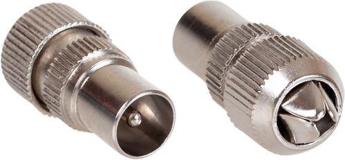 AQ KV306 - anténny konektor kovový rovný M